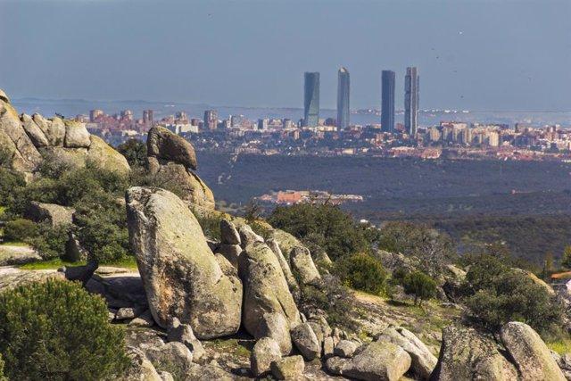 Vista de Madrid desde la sierra