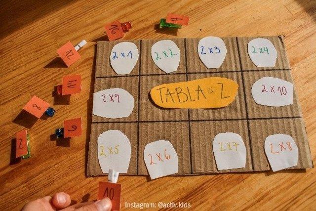 Aprende la tabla del 2 con esta divertida manualidad