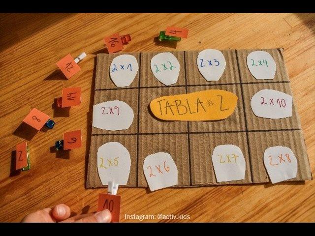 Aprendiendo las tablas de multiplicar: manualidades educativas para niños