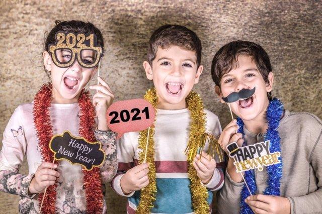 Fiesta de Año Nuevo en casa con los niños