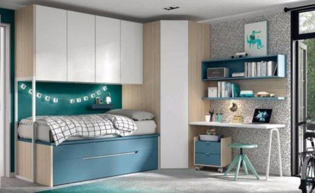 Muebles para ganar espacio en las habitaciones infantiles