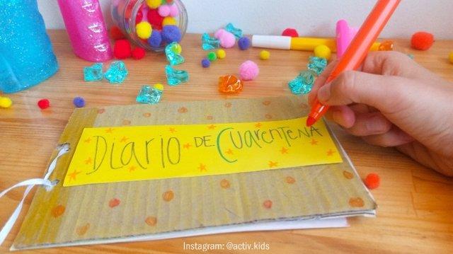 Manualidades educativas para niños: diario de la cuarentena